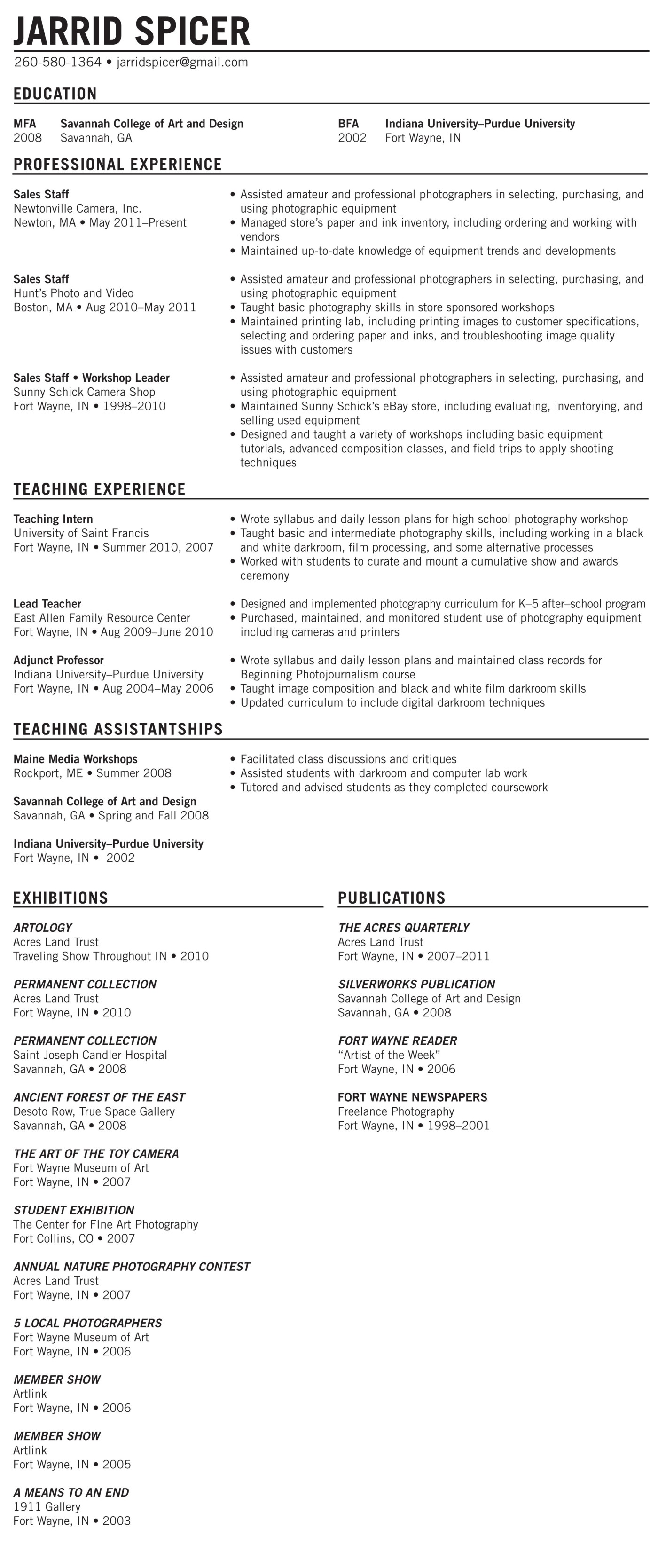 photography resume best free resume collection